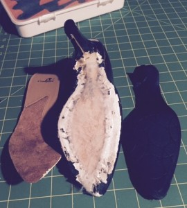 Insole & Sole removed