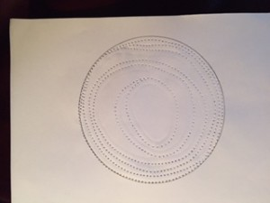 sewing on paper 2 spirals