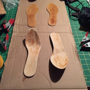 Insole and cork glued up