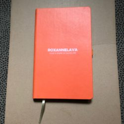 RoxAnneLava Leather Logo Journal