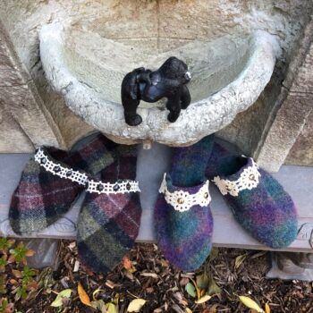 Harris Tweed slippers for cozy toes